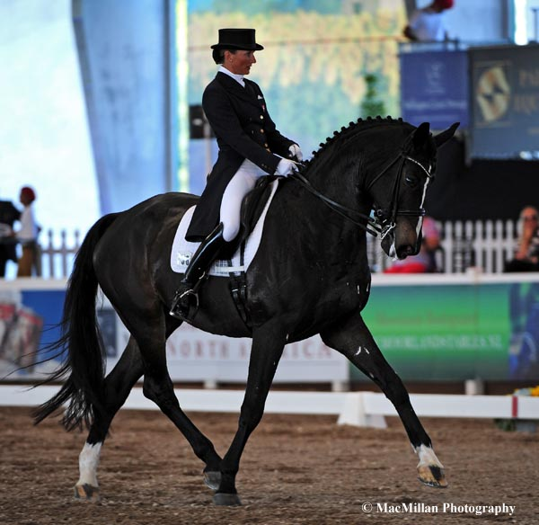 Mikala Gundersen riding My Lady won the CDI5* Grand Prix Special at the 2013 World Dressage Masters in West Palm Beach, Florida, on Saturday.   Photo by Allen MacMillan/MacMillan Photography