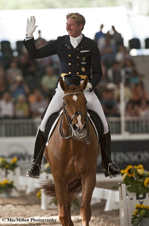 Patrik Kittel and Watermill Scandic H B C of Sweden took first in the CDI5* Grand Prix on Friday and second in the CDI5* Freestyle on Saturday at the 2013 World Dressage Masters in West Palm Beach, Florida last weekend.   Photo by Shelley Higgins/MacMillan Photography