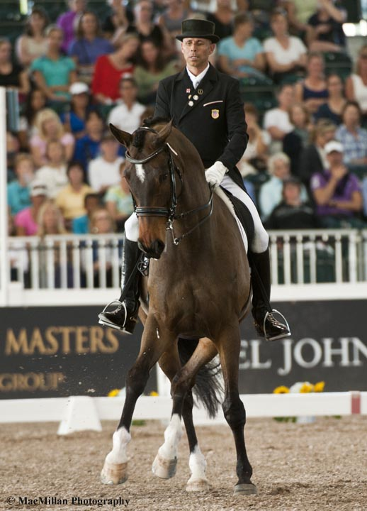 Steffen Peters and Legolas 92 took third in the Grand Prix CDI5*    Photo by Shelley Higgins/MacMillan Photography