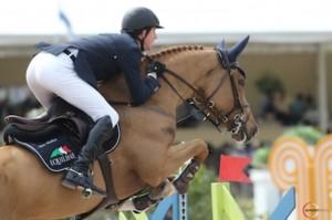Ben Maher and Quiet Easy 4. Photo © Sportfot.