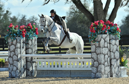 ©ESI Photography Sophia Lothrop and Castell on their way to a win in the $1,500 Hunter Prix at HITS Ocala.