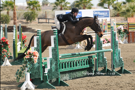 ©Flying Horse Photography Twelve-year-old Grady Lyman bested some of the top professional riders of the HITS Desert Circuit when she and Flirt won the $5,000 Devoucoux Hunter Prix this weekend at HITS Thermal.