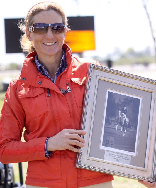Sharon McCusker with the Carol Lavell Advanced Dressage Prize
