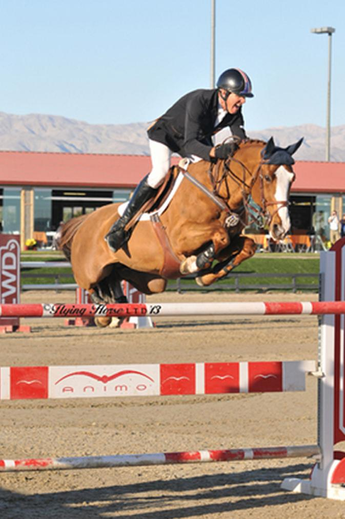 ©Flying Horse Photography Rich Fellers and Flexible rode to the winner's circle over an impressive field this weekend to collect first-place honors in the $25,000 SmartPak Grand Prix, presented by Zoetis, at HITS Thermal.