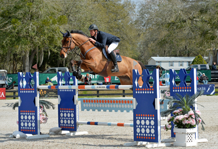 ©ESI Photography.  Jared Petersen and Titus 2:11 soared to another win on Sunday. The $50,000 Ring Power Grand Prix, presented by Zoetis, was their fourth grand prix title in just two weeks and their third in a row.