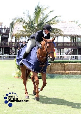Jennifer Alfano and Miss Lucy in their victory gallop. Photo © Anne Gittins Photography.