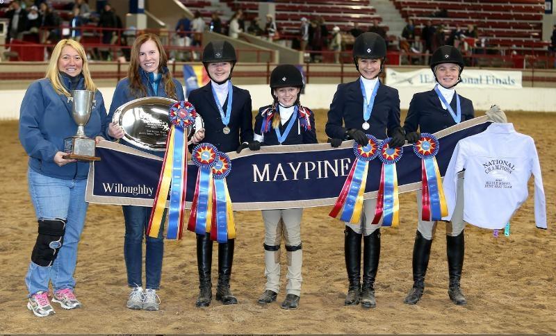 2013 Middle School Champion L>R Redean Sheppard, Valerie Davis, Rosie Fahey, Sara Conley, Rachel McMullen, Sophia Downey