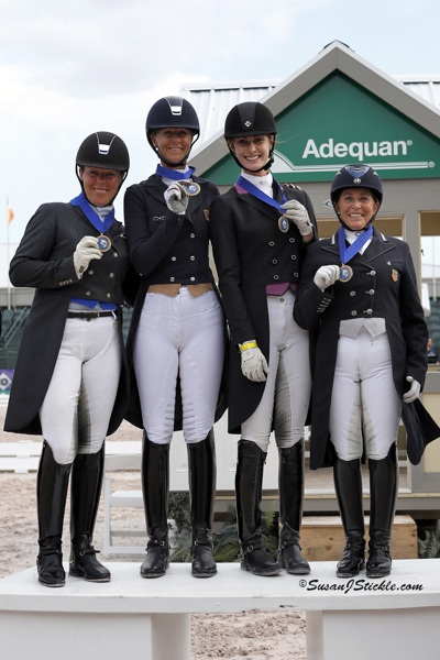 Team USA 1: Kim Herslow, Heather Blitz, Caroline Roffman, and Shelly Francis