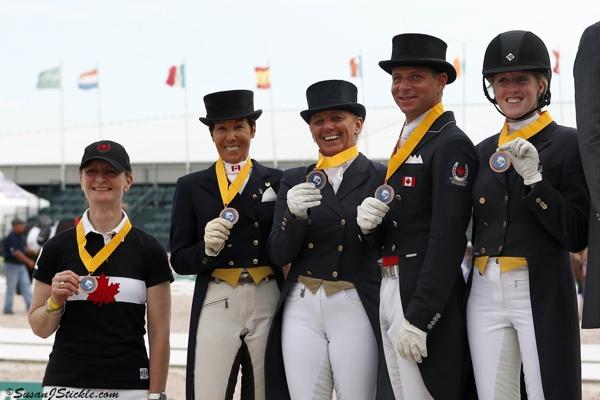 Team Canada 1: Chef d'Equipe Gina Smith, Christilot Boylen, Evi Strasser, David Marcus, Brittany Fraser
