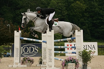 Devin Ryan and Roman Saluut won the $30,000 Mount Equinox Grand Prix during the 2012 Vermont Summer Festival in East Dorset, VT. Photo by David Mullinix Photography
