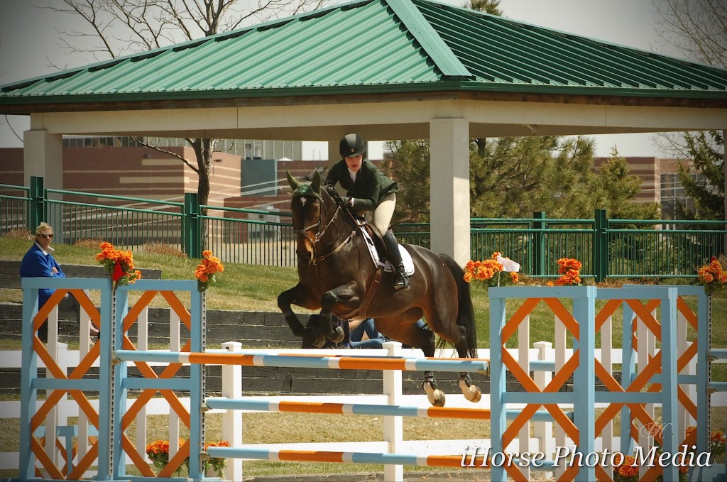 Kelli Crusiotti and Ishana III won both a $500 High Junior/Amateur Owner Jumpers class  and the $2,500 Open Jumper Welcome Stake.  Photo Credit: iHorse Photo Media