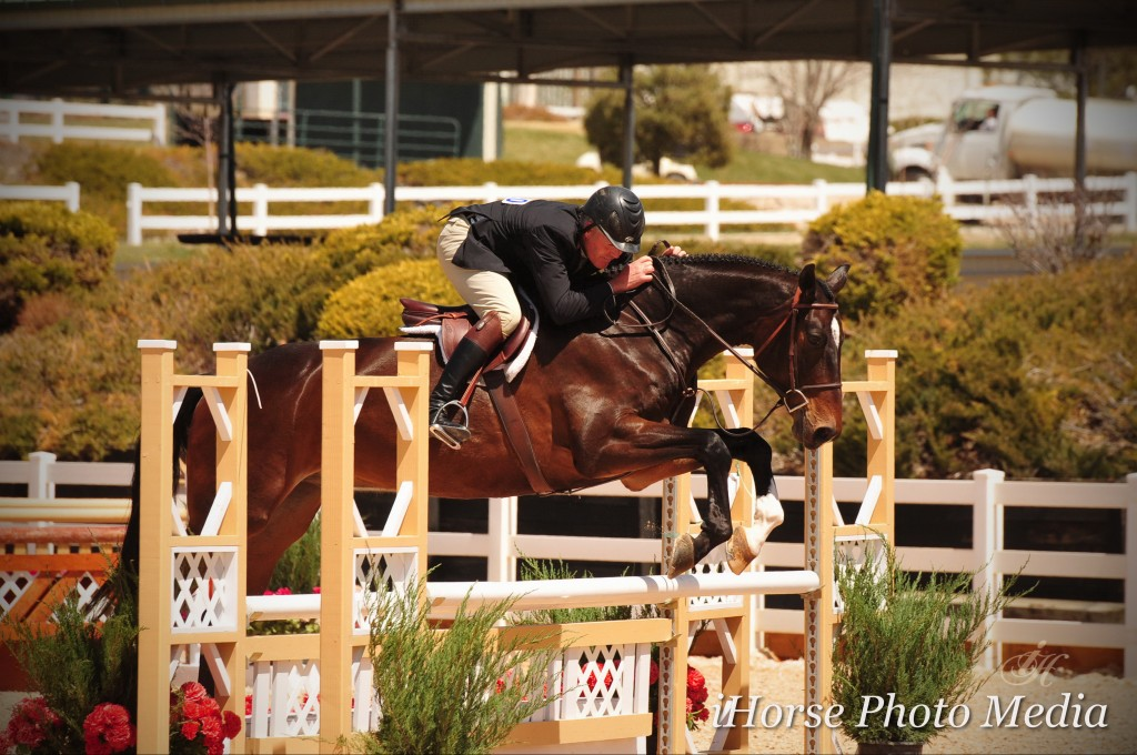 "Paul Rohrbach and In Like Fynn were champions of the Performance Working Hunters 3'3"". Photo Credit: iHorse Photo Media"