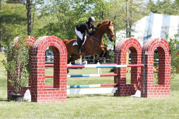: Emily Bickford piloted Rio to the top of the High Junior/Amateur-Owner Jumper Classic at the Fieldstone Spring Festival. All Photos By: Kendall Bierer/Phelps Media Group.