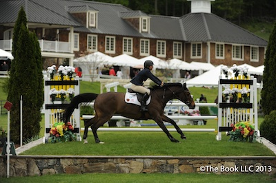 Beezie Madden and Mademoiselle negotiate the table bank