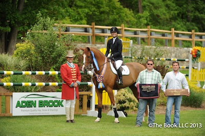 Lexi Maounis and Whisper with ringmaster Alan Keely, along with Kevin Harrop and Nick Fitzpatrick of Aden Brook