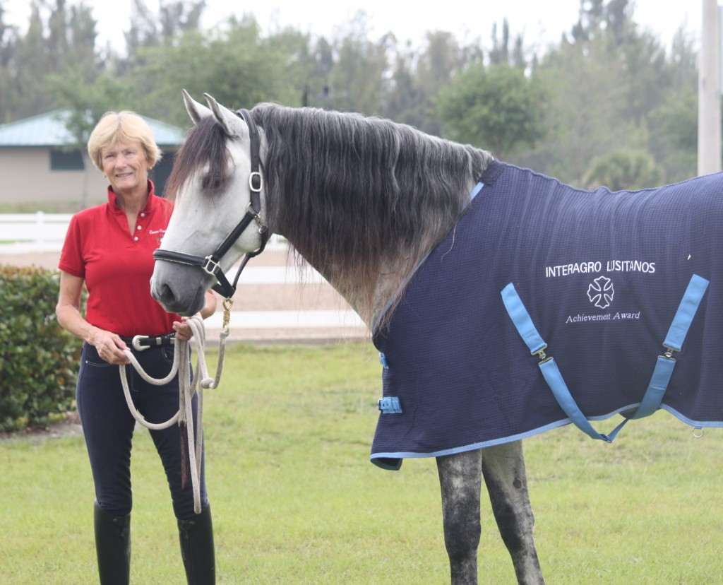 : Brioso Interagro and Priscilla Baldwin were presented with the Interagro Lustiano Acheivement Award during the Gold Coast Dressage Association Finale I & II.
