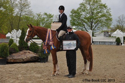 Katie Robinson and Sutton Place with trainer Brady Mitchell of Heritage Farm