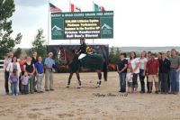 Kristen VanderVeen and Bull Run's Eternal in the awards ceremony. Photo by Flying Horse Photography.