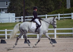 Julie Wolferd and Buenos Dias in Day 1 of the CCI* at Colorado Horse Park.