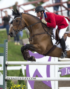 William Coleman III of the United States riding Obos O'Reilly won the Bromont CCI3*, the Todd Sandler Challenge, at the Volvo CCI3* Bromont Three Day Event on June 9, 2013, in Bromont, Quebec. Photo by Cealy Tetley, www.tetleyphoto.com