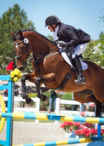 Julie Wolfert and Buenos Aires jump to the win in Open Intermediate (Photo by Cristy Cumberworth)