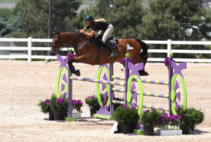 Kristen VanderVeen and Bull Run's Le Conte siezed the 1.30m Open Jumpers