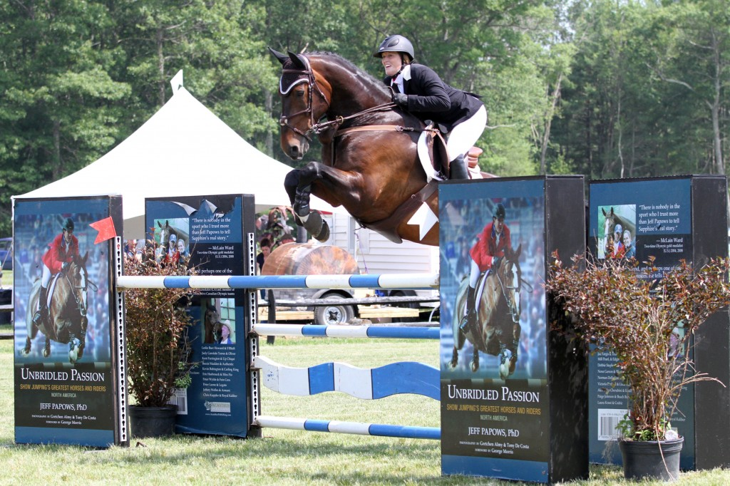 Gwen Goodwin and Fedel placed second in the $10,000 Fieldstone Grand Prix with the only other double-clear effort.