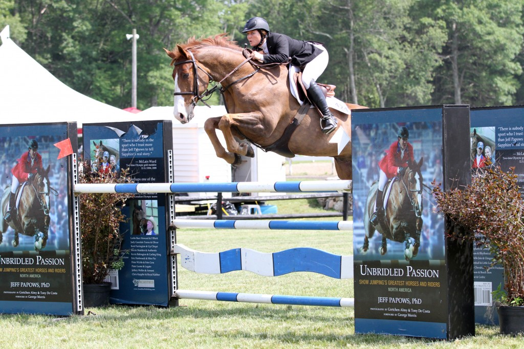 Penny Brennan and Sun Tzu took third place with the fastest of the four-fault efforts during the $10,000 Fieldstone Grand Prix.
