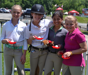 ©ESI Photography The horseless horse show featured an egg and spoon race.