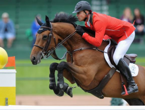 Francois Mathy and Polinska des Isles. Photo © Spruce Meadows Media Services.