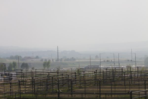 The Colorado Horse Park set up extra paddocks for the arrival of evacuated horses. In the afternoon a northerly wind blew in a smoky haze.