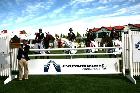 The winning San Lorenzo team. Photo © Spruce Meadows Media Services.