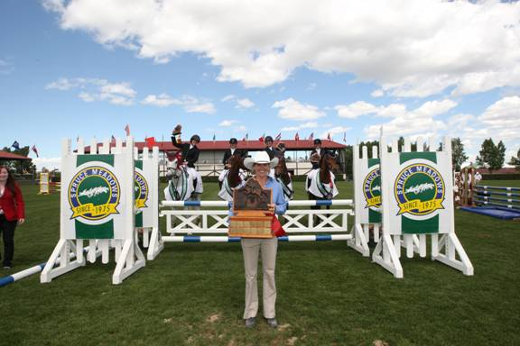 Team Madden Magic won the $5,000 Paramount Resources Prix des Nations 1.20m. Photo © Spruce Meadows Media Services.