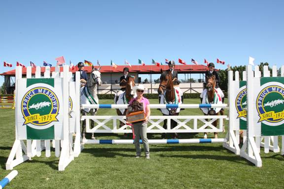 The win in the 1.10m went to Team Xtreme. Photo © Spruce Meadows Media Services.