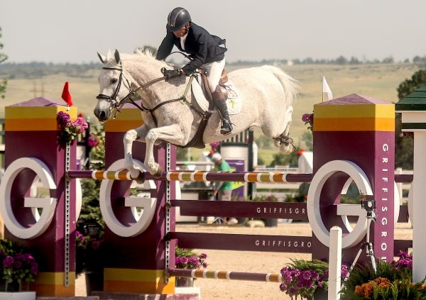John Pearce and Chianto claimed the $30,000 Summer in the Rockies Grand Prix, presented by Nutrena, on Saturday at the Colorado Horse Park. Photo by Mary Adelaide Brakenridge.