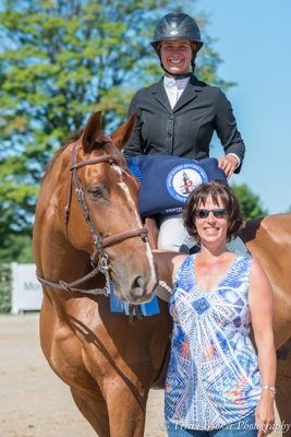 Centurion B and Lisa Goldman celebrate with sponsor Patrice Schreiber