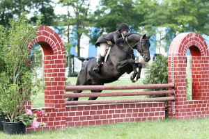 "Jennifer Bliss and Knockout delivered two consistent rounds for the overall score of 188 points to capture the $2,500 Fieldstone 2'9"" Hunter Derby victory at the Fieldstone Summer Showcase I. Photo By: Kendall Bierer/Phelps Media Group."