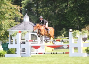 Riding Oakland Venture's Picolo, Darragh Kenny won on opening day at the Silver Oak Jumper Tournament - photo by Tony DeCosta.