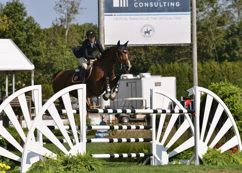 Brianne Goutal rode Uata to victory in the $10,000 Wolffer Estate Open Jumper at the Hampton Classic. (Shawn McMillen photo)