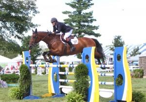 Paul O'Shea and Primo de Revel won the inaugural $75,000 Equestrian Estates Planning Group Grand Prix at the Silver Oak Jumper Tournament - photo by Tony DeCosta.
