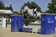 Banba-Annie_Cook-Over_Menlo_Jump-winner of 10K Charleboise Jr AM Jumper Class