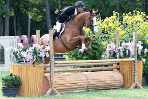 "David Oliynyk and Generous rode to the top of the $15,000 NEHJA 3'3"" Hunter Derby Finals during the Fieldstone Summer Showcase II."