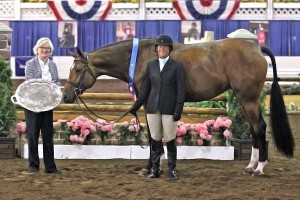 Jennifer Alfano and Maggie May captured the First Year Green Working Hunter Championship at the 67th Buffalo International Horse Show. Not only did the pair win the division's championship, but they were also awarded the Grand Hunter Championship for their efforts throughout the professional division.
