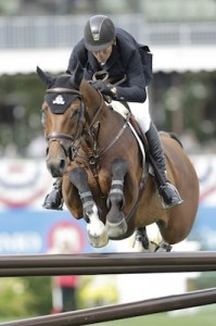 Eric Lamaze of CAN riding Power Play