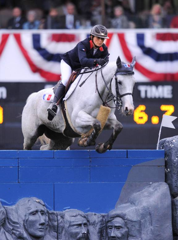 Penelope Leprevost and Dame Blanche van Arenberg. Photo © Spruce Meadows Media Services.