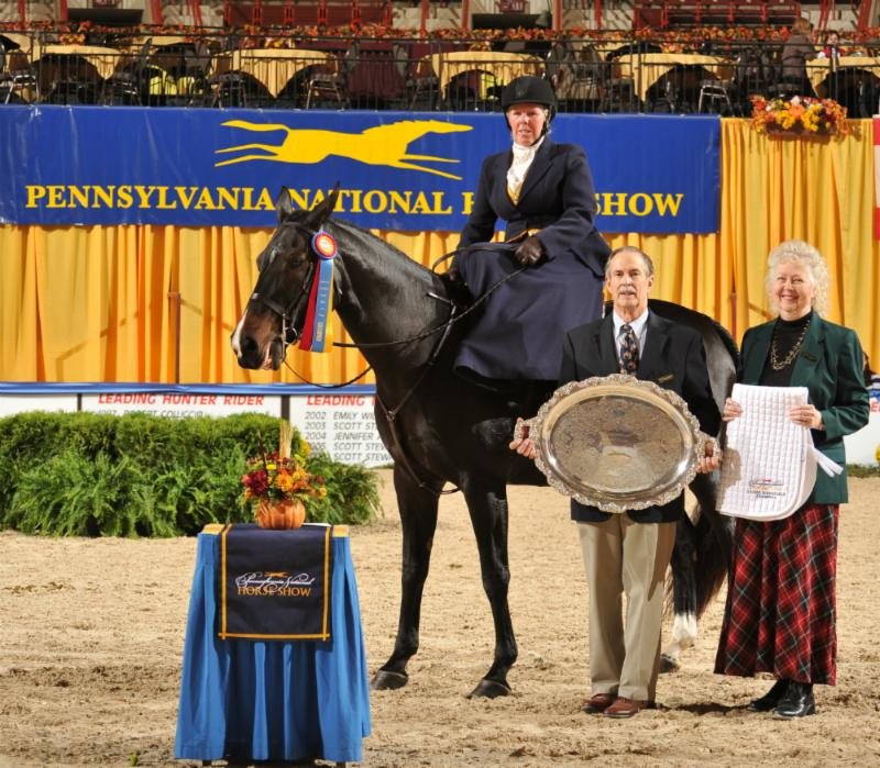 Mr. and Mrs. Richard L. Hornberger sponsored all the classes in the Sidesaddle division, and presented all the awards.