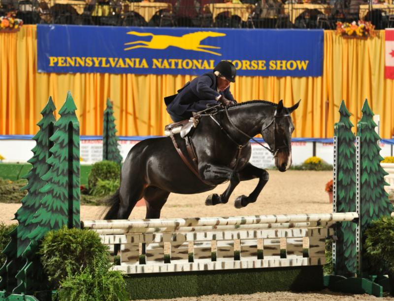 Susan Clark and NU MOON win the Sidesaddle Championship sponsored and presented by Mr. and Mrs. Richard L. Hornberger (photo © AlCookPhoto.com)