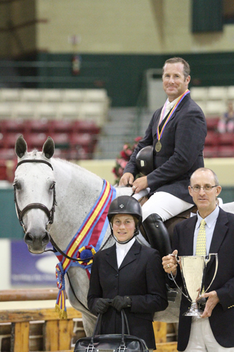 Greg Crolick and Grey Street with last year's winner Melissa Feller and Geoff Teall. Photo copyright Jennifer Wood Media, Inc.