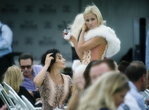 Polo fashionistas among the crowd at the USPA North American Cup presented by Beluga. Photo by Scott Fisher