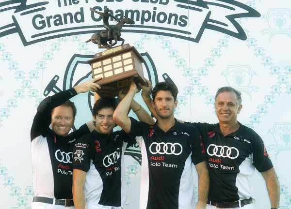 We Are The Champions. Audi defended its title in grand style with Marc Ganzi (1), Carlitos Gracida (2), Nic Roldan (3) and Carlos Gracida (4). Photo by Scott Fisher